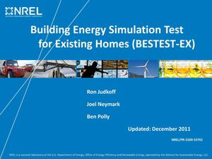 Primary view of object titled 'Building Energy Simulation Test for Existing Homes (BESTEST-EX) (Presentation)'.