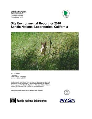 Primary view of object titled 'Site Environmental Report for 2010 Sandia National Laboratories, California.'.