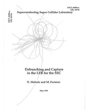 Primary view of object titled 'Debunching and Capture in the LEB for the SSC'.