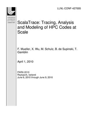 Primary view of object titled 'ScalaTrace: Tracing, Analysis and Modeling of HPC Codes at Scale'.