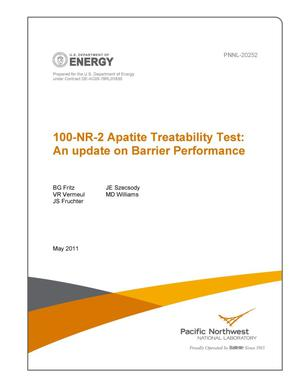 Primary view of object titled '100-NR-2 Apatite Treatability Test: An update on Barrier Performance'.