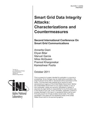 Primary view of object titled 'Smart Grid Integrity Attacks: Characterizations and Countermeasures'.