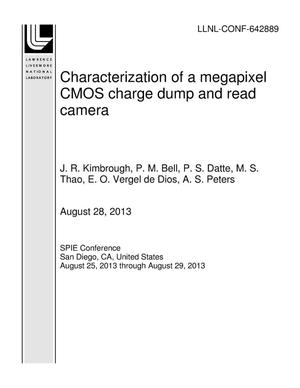 Primary view of object titled 'Characterization of a megapixel CMOS charge dump and read camera'.