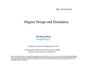 Primary view of object titled 'Magnet design and simulation'.