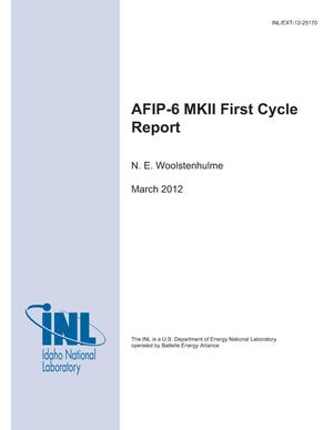 Primary view of object titled 'AFIP-6 MKII First Cycle Report'.