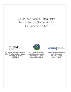 Primary view of object titled 'Central and Eastern United States (CEUS) Seismic Source Characterization (SSC) for Nuclear Facilities Project'.