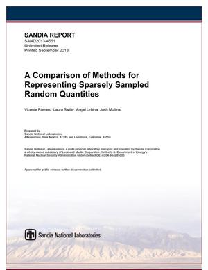 Primary view of object titled 'A comparison of methods for representing sparsely sampled random quantities.'.