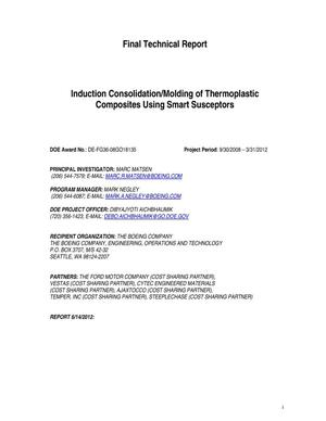 Primary view of object titled 'Induction Consolidation of Thermoplastic Composites Using Smart Susceptors'.
