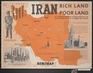 Primary view of object titled 'Newsmap for the Armed Forces : Iran, rich land poor land'.