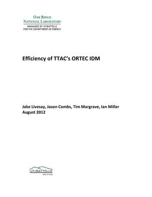 Primary view of object titled 'Efficiency of TTAC's ORTEC IDM'.