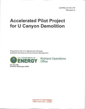 Primary view of object titled 'ACCELERATED PILOT PROJECT FOR U CANYON DEMOLITION'.
