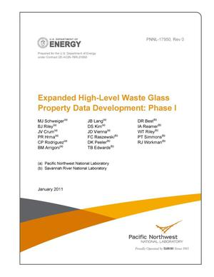 Primary view of object titled 'Expanded High-Level Waste Glass Property Data Development: Phase I'.
