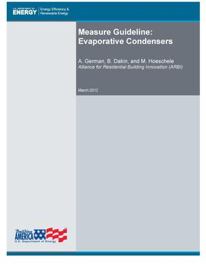 Primary view of object titled 'Measure Guideline: Evaporative Condensers'.