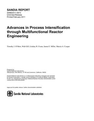 Primary view of object titled 'Advances in Process Intensification through Multifunctional Reactor Engineering'.