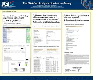 Primary view of object titled 'The RNA-Seq Analysis pipeline on Galaxy'.