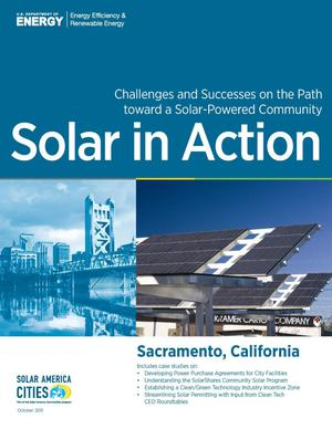 Primary view of object titled 'Sacramento, California: Solar in Action (Brochure)'.