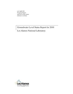 Primary view of object titled 'Groundwater level status report for 2010, Los Alamos National Laboratory'.