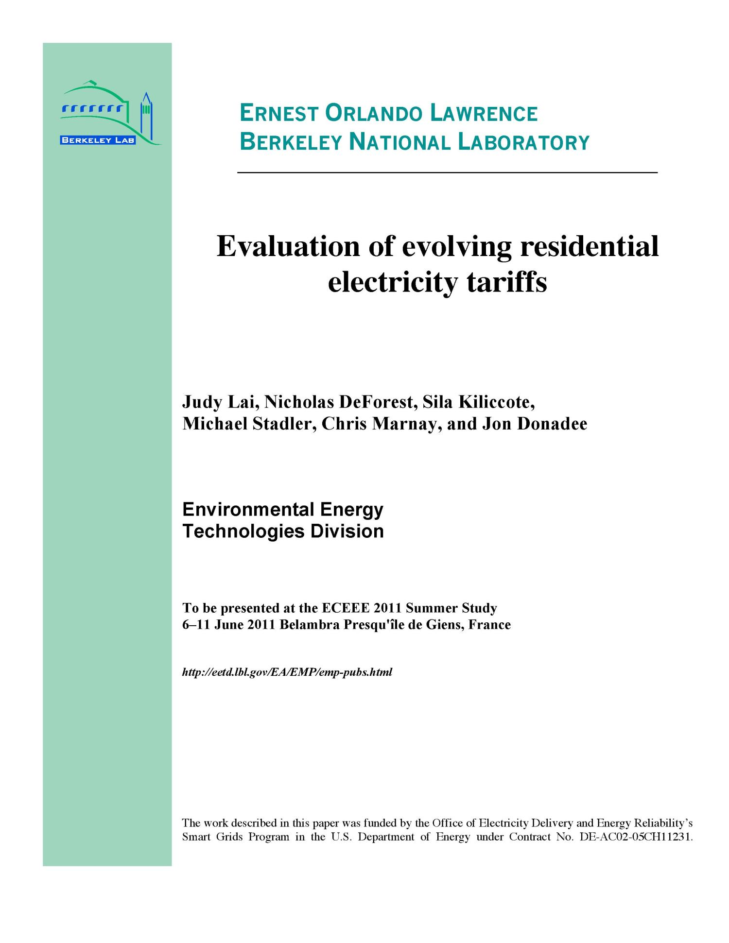 Evaluation Of Evolving Residential Electricity Tariffs Digital Library Wiring Parallel Or Series