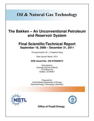 Primary view of object titled 'The Bakken-An Unconventional Petroleum and Reservoir System'.