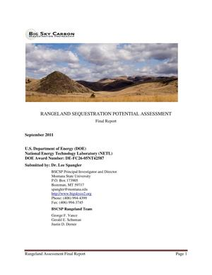 Primary view of object titled 'RANGELAND SEQUESTRATION POTENTIAL ASSESSMENT'.