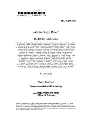 Primary view of object titled 'Interim Design Report'.