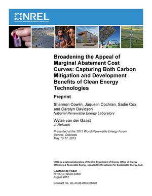 Primary view of object titled 'Broadening the Appeal of Marginal Abatement Cost Curves: Capturing Both Carbon Mitigation and Development Benefits of Clean Energy Technologies; Preprint'.