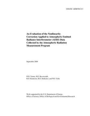 Primary view of object titled 'An Evaluation of the Nonlinearity Correction Applied to Atmospheric Emitted Radiance Interferometer (AERI) Data Collected by the Atmospheric Radiation Measurement Program'.