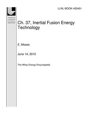Primary view of object titled 'Ch. 37, Inertial Fusion Energy Technology'.