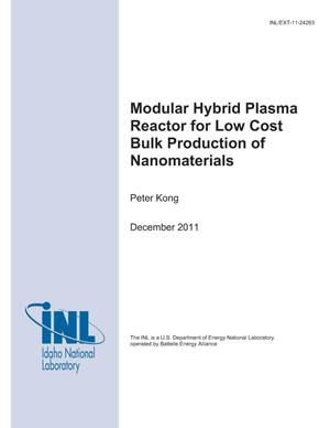 Primary view of object titled 'Modular Hybrid Plasma Reactor for Low Cost Bulk Production of Nanomaterials'.