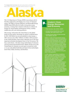 Primary view of object titled 'Alaska: Alaska's Clean Energy Resources and Economy (Brochure)'.