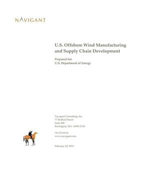 Primary view of object titled 'U.S. Offshore Wind Manufacturing and Supply Chain Development'.