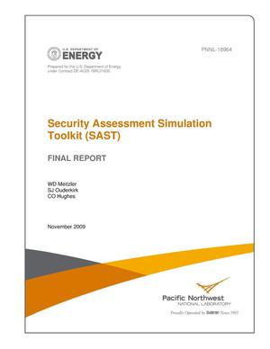 Primary view of object titled 'Security Assessment Simulation Toolkit (SAST) Final Report'.