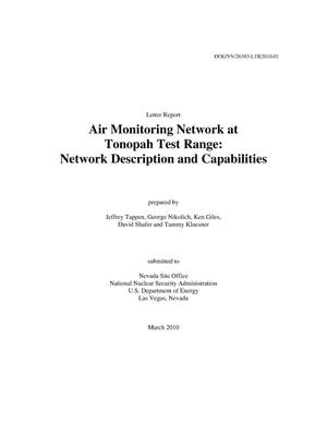 Primary view of object titled 'Air Monitoring Network at Tonopah Test Range: Network Description and Capabilities'.