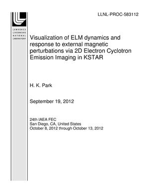 Primary view of object titled 'Visualization of ELM dynamics and response to external magnetic perturbations via 2D Electron Cyclotron Emission Imaging in KSTAR'.