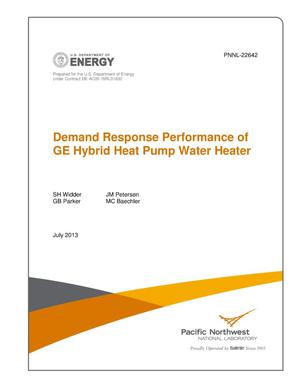 Primary view of object titled 'Demand Response Performance of GE Hybrid Heat Pump Water Heater'.