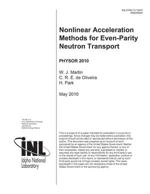 Primary view of object titled 'Nonlinear Acceleration Methods for Even-Parity Neutron Transport'.