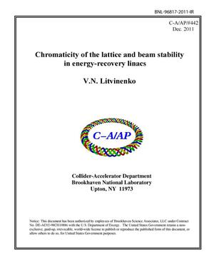 Primary view of object titled 'Chromaticity of the lattice and beam stability in energy-recovery linacs'.
