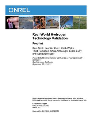 Primary view of object titled 'Real-World Hydrogen Technology Validation: Preprint'.