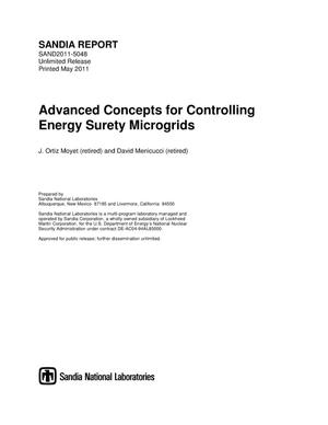 Primary view of object titled 'Advanced concepts for controlling energy surety microgrids.'.