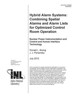Primary view of object titled 'HYBRID ALARM SYSTEMS: COMBINING SPATIAL ALARMS AND ALARM LISTS FOR OPTIMIZED CONTROL ROOM OPERATION'.