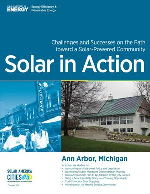 Primary view of object titled 'Ann Arbor, Michigan: Solar in Action (Brochure)'.