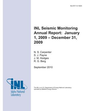 Primary view of object titled 'INL Seismic Monitoring Annual Report: January 1, 2009 – December 31, 2009'.