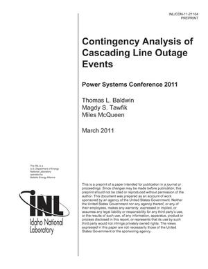 Primary view of object titled 'Contingency Analysis of Cascading Line Outage Events'.