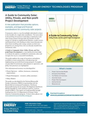 Primary view of object titled 'Guide to Community Solar: Utility, Private, and Non-Profit Project Development (Fact Sheet)'.