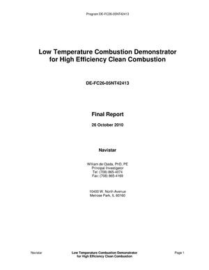 Primary view of object titled 'Low Temperature Combustion Demonstrator for High Efficiency Clean Combustion'.