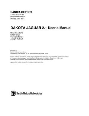 Primary view of object titled 'DAKOTA JAGUAR 2.1 user's Manual.'.