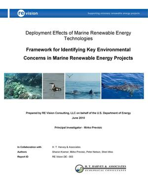 Primary view of object titled 'Concerns in Marine Renewable Energy Projects'.