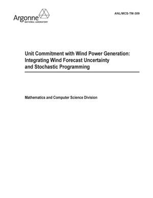 Primary view of object titled 'Unit commitment with wind power generation: integrating wind forecast uncertainty and stochastic programming.'.