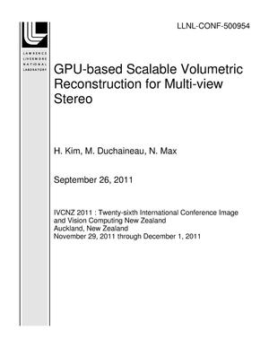 Primary view of object titled 'GPU-based Scalable Volumetric Reconstruction for Multi-view Stereo'.
