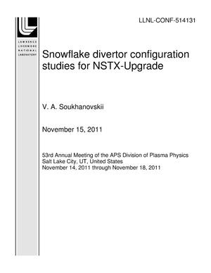 Primary view of object titled 'Snowflake divertor configuration studies for NSTX-Upgrade'.